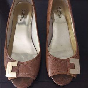 MK peep toe wedge 1 inch wedge